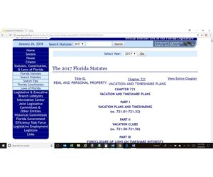 Florida Timeshare Cancellation Statute